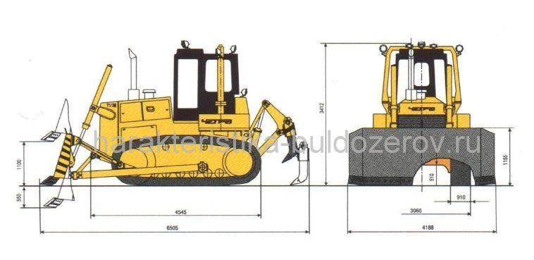 Габаритные размеры ЧЕТРА Т-11.01М.