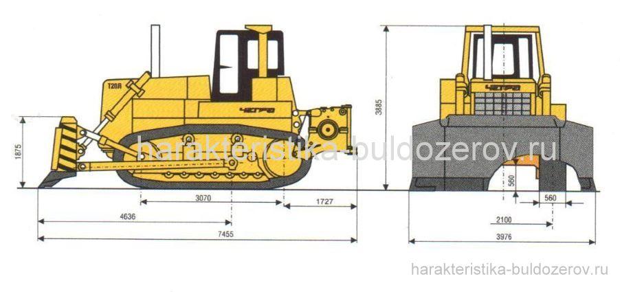 Габаритные размеры ЧЕТРА Т-20.01Л.